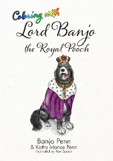 Coloring with Lord Banjo the Royal Pooch